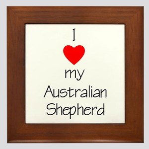 I Love My Australian Shepherd Framed Tile