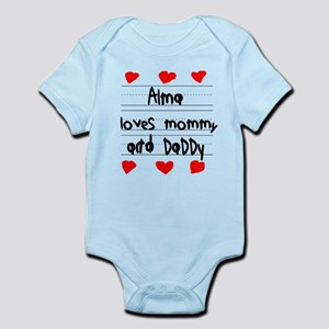 Alma Loves Mommy and Daddy Infant Bodysuit