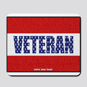Veteran Flag Banner Mousepad