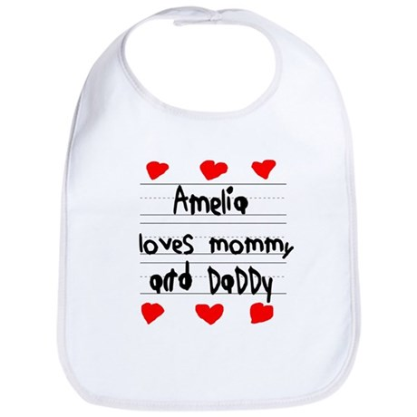 Amelia Loves Mommy and Daddy Bib