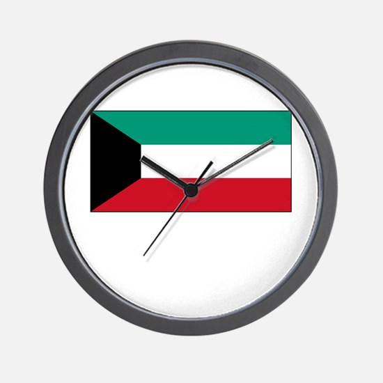 Kuwait Flag Picture Wall Clock