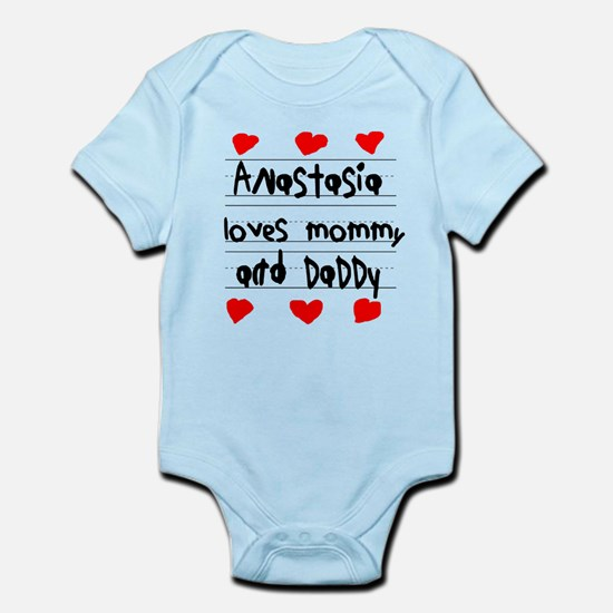 Anastasia Loves Mommy and Daddy Infant Bodysuit