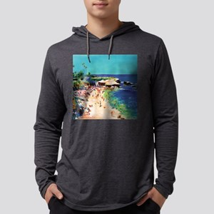cove-calm-sea-sq Mens Hooded Shirt