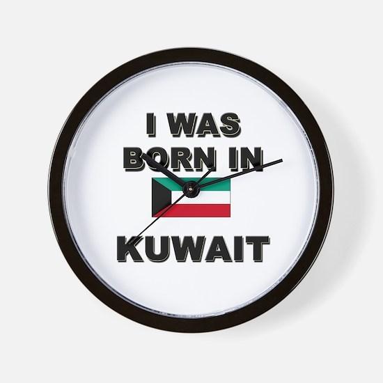 I Was Born In Kuwait Wall Clock