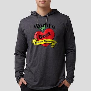 Worlds Best School Secretary Mens Hooded Shirt
