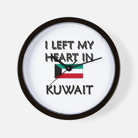 I Left My Heart In Kuwait Wall Clock