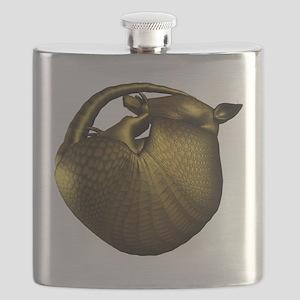 Sleeping Golden Armadillo Flask
