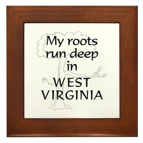 West Virginia Roots Framed Tile