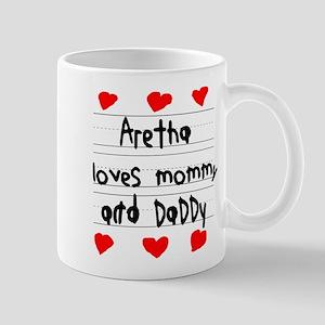 Aretha Loves Mommy and Daddy Mug