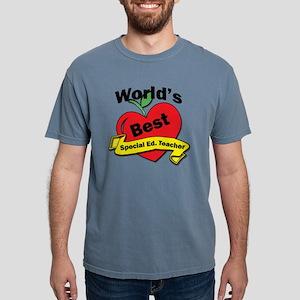 Worlds Best Special Educ Mens Comfort Colors Shirt