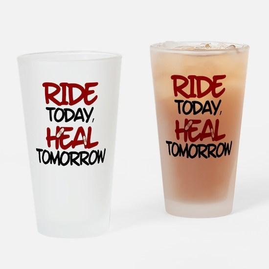 'Heal Tomorrow' Drinking Glass