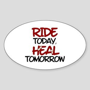 'Heal Tomorrow' Sticker (Oval)