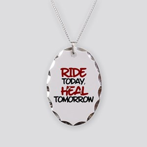 'Heal Tomorrow' Necklace Oval Charm