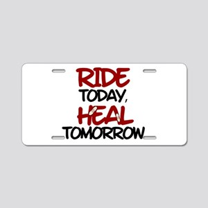'Heal Tomorrow' Aluminum License Plate