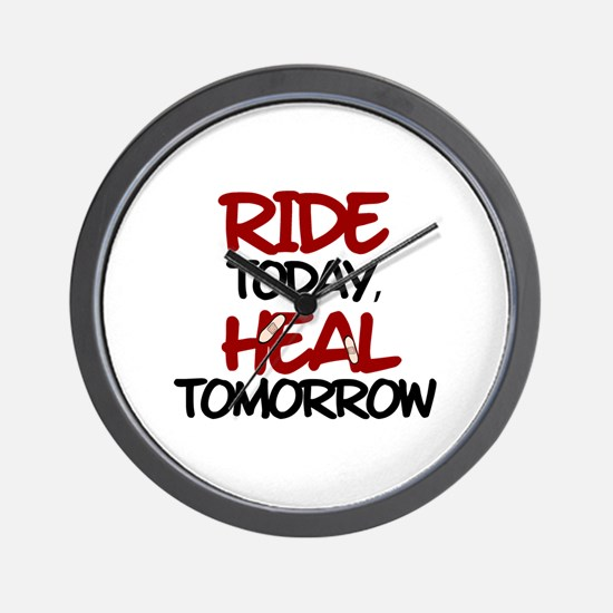 'Heal Tomorrow' Wall Clock
