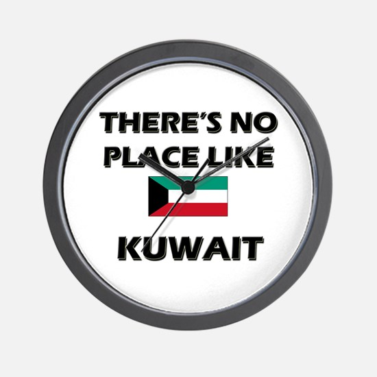 There Is No Place Like Kuwait Wall Clock