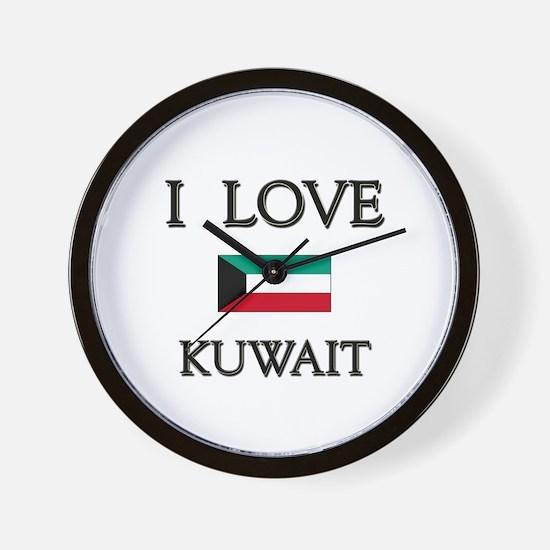 I Love Kuwait Wall Clock