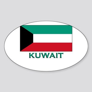 Kuwait Flag Merchandise Oval Sticker