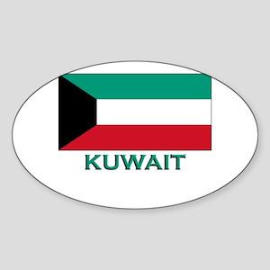Kuwait Flag Merchandise Oval Sticker