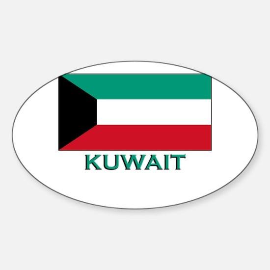 Kuwait Flag Merchandise Oval Decal