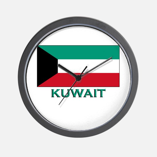 Kuwait Flag Merchandise Wall Clock