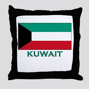 Kuwait Flag Merchandise Throw Pillow