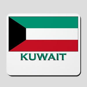 Kuwait Flag Merchandise Mousepad