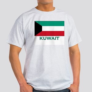 Kuwait Flag Merchandise Ash Grey T-Shirt