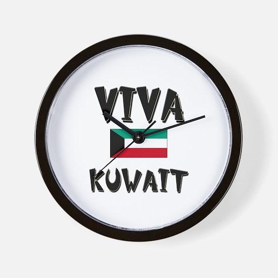 Viva Kuwait Wall Clock