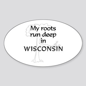 Wisconsin Roots Oval Sticker