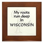 Wisconsin Roots Framed Tile