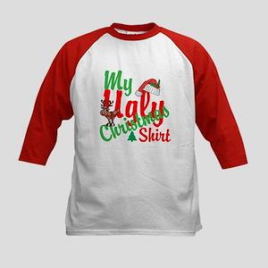 Ugly Christmas Shirt Kids Baseball Jersey