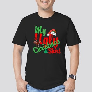 Ugly Christmas Shirt Men's Fitted T-Shirt (dark)