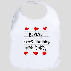 Benny Loves Mommy and Daddy Bib