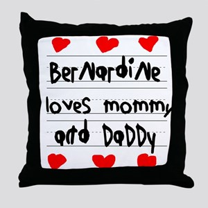 Bernardine Loves Mommy and Daddy Throw Pillow