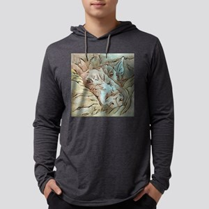 Let Sleeping Dogs Lie Mens Hooded Shirt