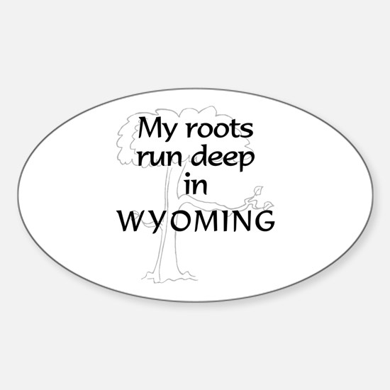 Wyoming Roots Oval Decal