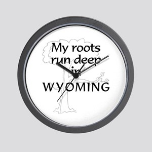Wyoming Roots Wall Clock