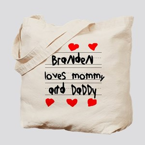Branden Loves Mommy and Daddy Tote Bag