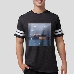 Alcatraz at Dawn clock Mens Football Shirt
