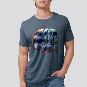 chrome-ent-patch copy Mens Tri-blend T-Shirt