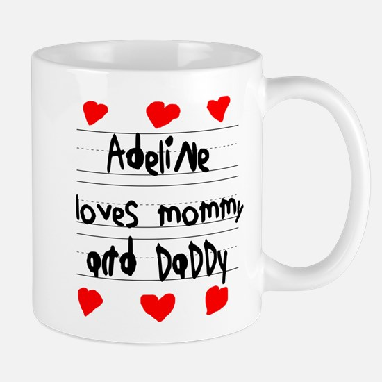 Adeline Loves Mommy and Daddy Mug