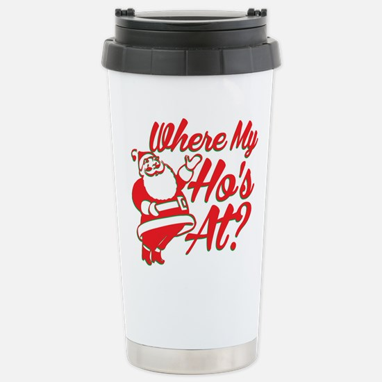Where My Ho's At? Funny Christmas Funny Gift Ceram