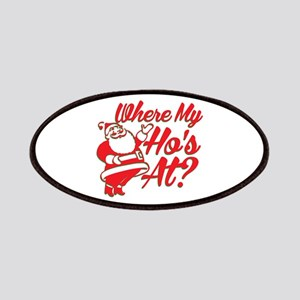 Where My Ho's At? Funny Christmas Funny Gift Patch