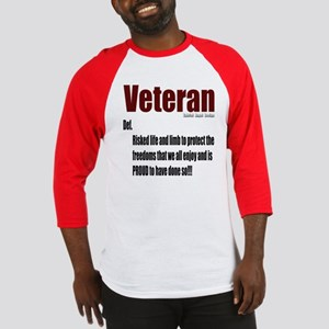 Veteran Definition Baseball Jersey