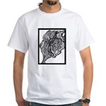 Its All In the Lines White T-Shirt