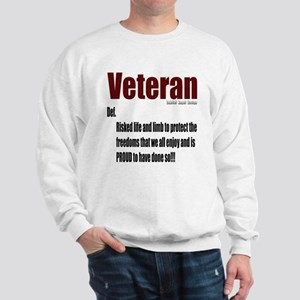 Veteran Definition Sweatshirt