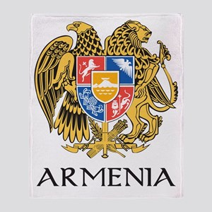Armenian Coat of Arms Throw Blanket