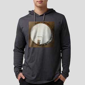 banjo clock 1 Mens Hooded Shirt