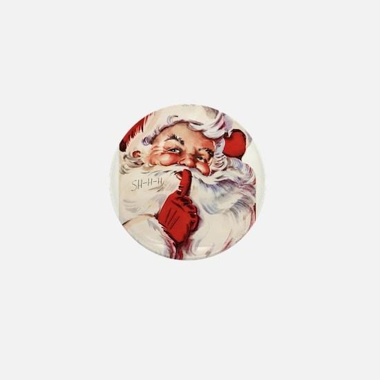 Vintage Santa Mini Button (10 pack)